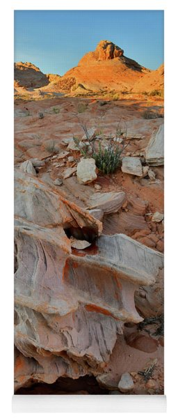 Beautiful Rock Form In Valley Of Fire Yoga Mat