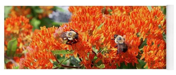 Bees Yoga Mat