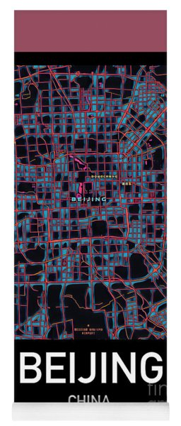Beijing City Map Yoga Mat