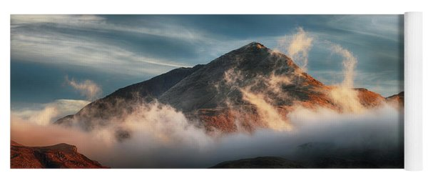 Ben Lomond Misty Sunset Yoga Mat