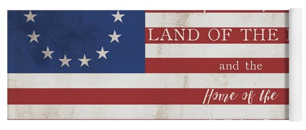 Betsy Ross Flag Land Of Free Home Of Brave Yoga Mat