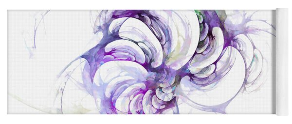 Beyond Abstraction Purple Yoga Mat