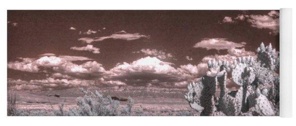 Big Bend Cactus Landscape Infrared Yoga Mat