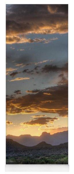 Big Bend Sunset Rio Grande Yoga Mat