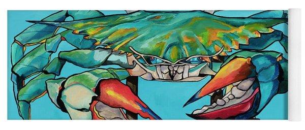 Big Blue Crab Rockport Yoga Mat