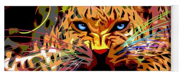 Big Cat Leopard Pop Cat Yoga Mat