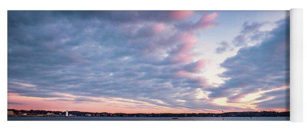 Big Sky Over Portsmouth Light. Yoga Mat