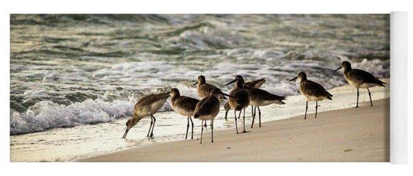 Birds On The Beach Yoga Mat