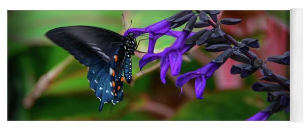 Black And Blue Yoga Mat