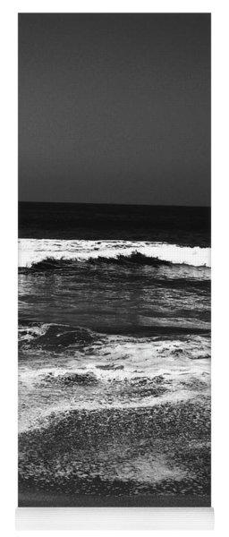Black And White Beach 7- Art By Linda Woods Yoga Mat