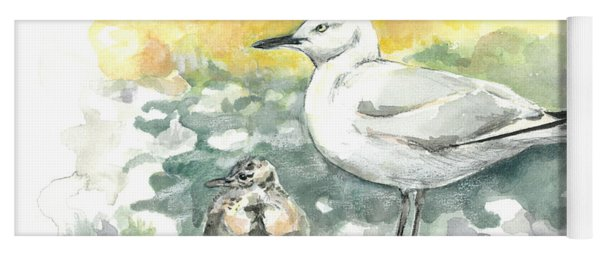 Black-billed Gull Family Yoga Mat