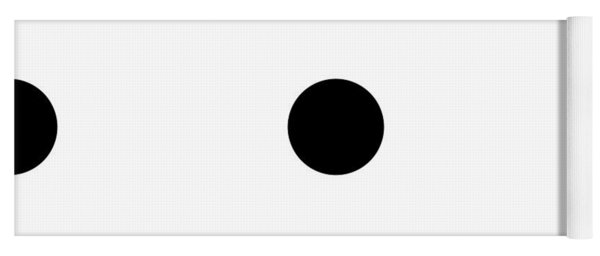 Black Dots On A White Background- Ddh610 Yoga Mat
