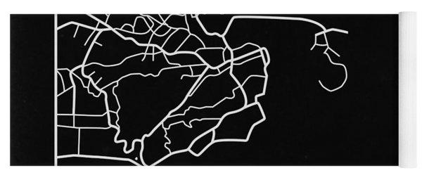 Black Map Of Rio De Janeiro Yoga Mat