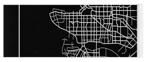 Black Map Of Vancouver Yoga Mat
