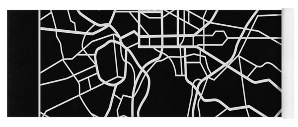 Black Map Of Washington, D.c. Yoga Mat