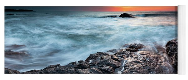 Black Sea Rocks Yoga Mat
