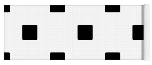 Black Squares On A White Background- Ddh574 Yoga Mat