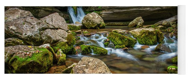 Yoga Mat featuring the photograph Blanchard Springs Headwater by Andy Crawford