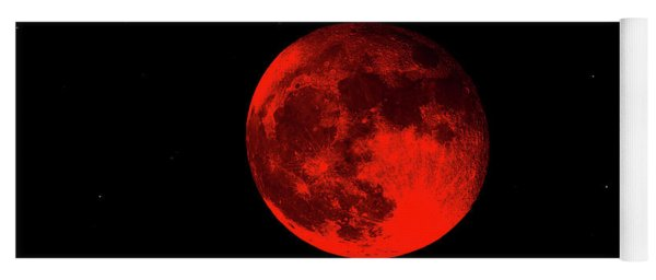 Blood Red Wolf Supermoon Eclipse 873a Yoga Mat