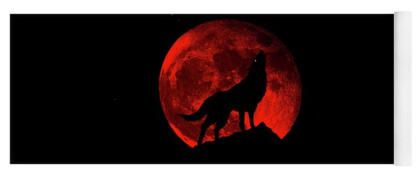 Blood Red Wolf Supermoon Eclipse 873l Yoga Mat