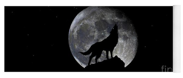 Pre Blood Red Wolf Supermoon Eclipse 873r Yoga Mat