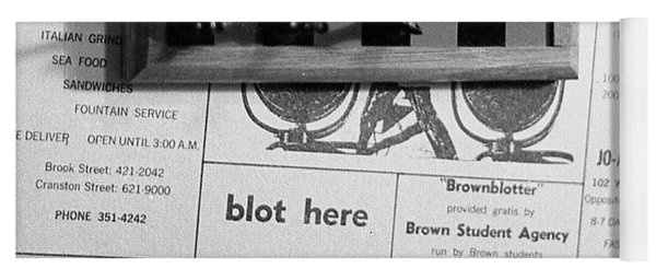 Blot Here, Aka Black's Move, 1972 Yoga Mat