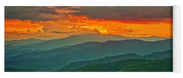 Blowing Rock Sunset Yoga Mat