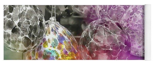 Blown Glass Ornaments Yoga Mat