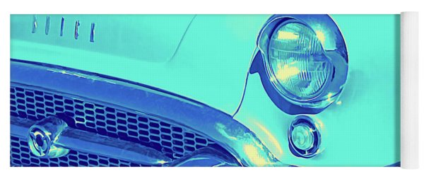 Blue 1955 Buick Special Yoga Mat