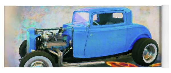 Blue 32 Ford Coupe Yoga Mat