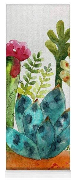 Blue Agave Cactus Yoga Mat