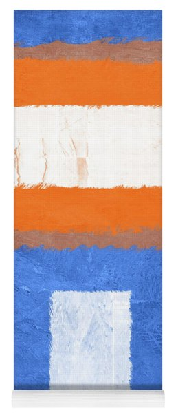 Blue And Orange Abstract Theme II Yoga Mat