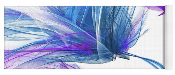 Blue And Purple I - Blue And Purple Abstract Art Yoga Mat