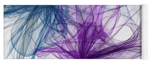 Blue And Purple Artwork  Yoga Mat