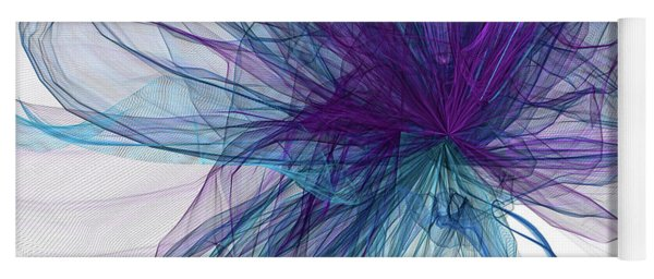 Blue And Purple Art  Yoga Mat