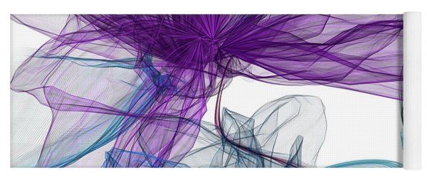 Blue And Purple Abstract Art Yoga Mat