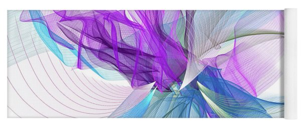Turquoise And Purple Art Yoga Mat