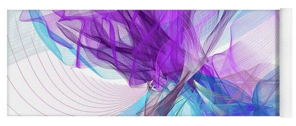 Blue And Purple Art II Yoga Mat