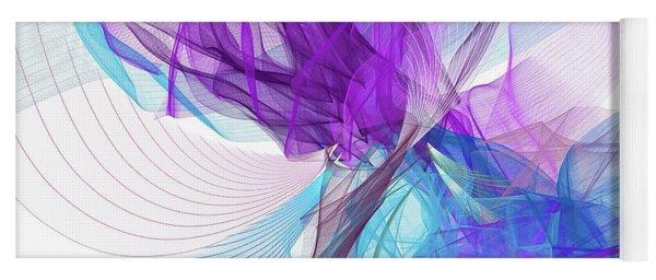 Blue And Purple Art Yoga Mat