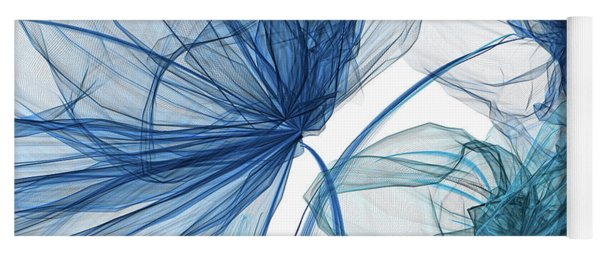Blue And Turquoise Art Yoga Mat