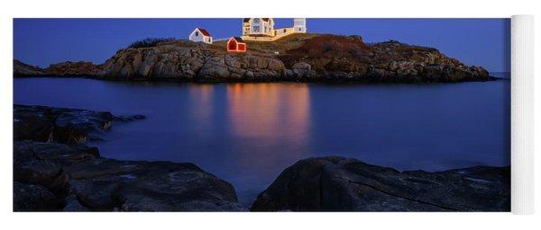 Blue Christmas, Nubble Lighthouse Yoga Mat
