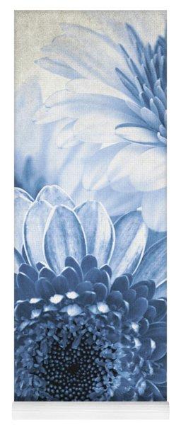 Blue Gerbera Yoga Mat