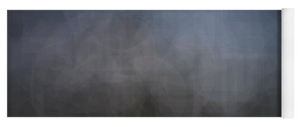 Blue Gray Abstract Background With Blurred Geometric Shapes. Yoga Mat