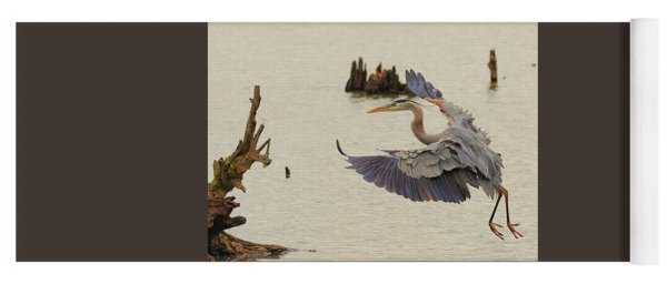 Blue Heron 2 Yoga Mat