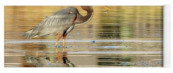 Blue Heron Fishing Yoga Mat