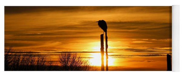 Blue Heron Sunrise Yoga Mat