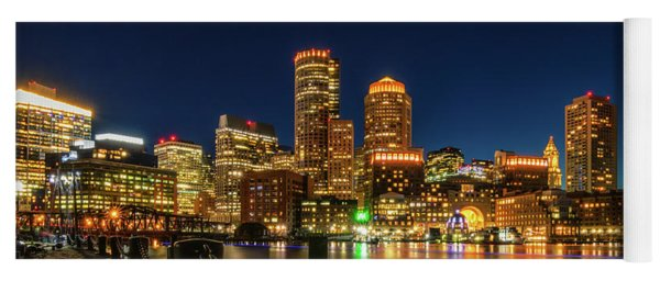 Blue Hour At Boston's Fan Pier Yoga Mat