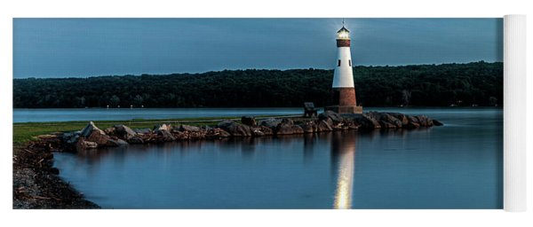 Blue Hour Lighthouse Yoga Mat