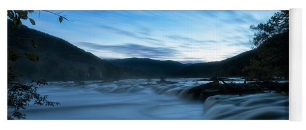 Yoga Mat featuring the photograph Blue Hour by Russell Pugh