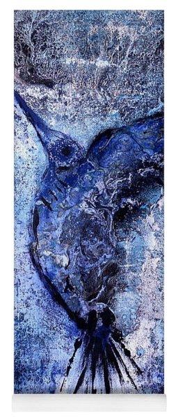 Blue Hummingbird Yoga Mat